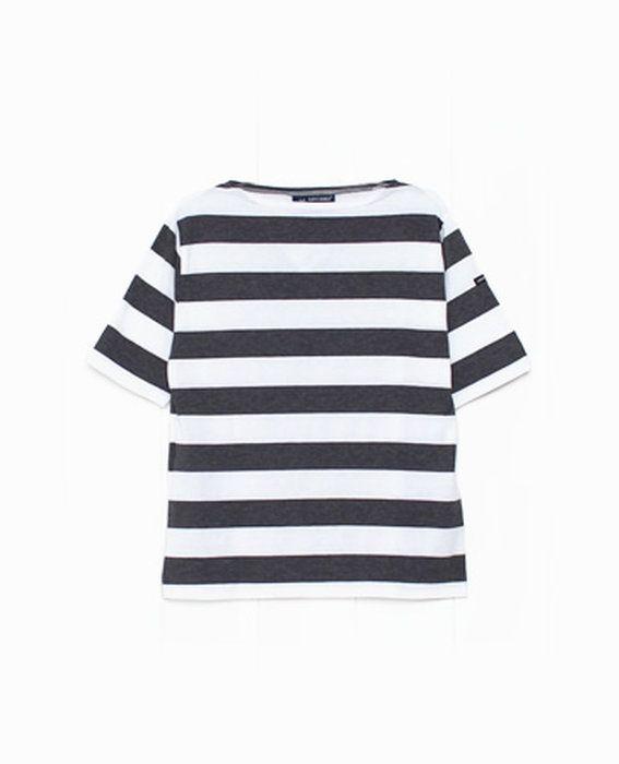 SAINT JAMES セントジェームス  太ボーダー 5分袖 カットソー Tシャツ