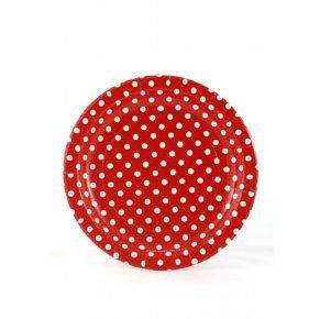 Let's Party With Balloons - Sambellina Red with White Polka Dots Paper Plates, $9.00 (http://www.letspartywithballoons.com.au/red-with-white-polka-dots-paper-plates/?page_context=category