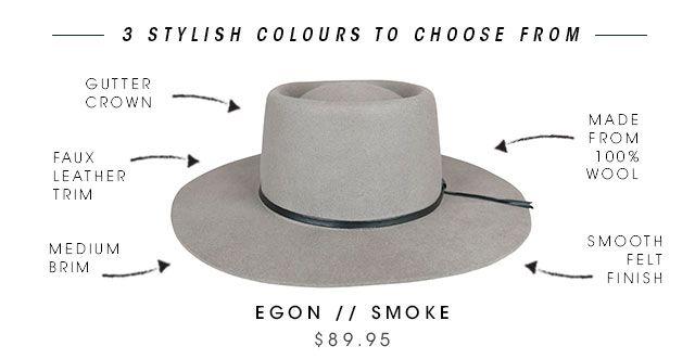 Ace of Something Egon Felt Boater in Smoke