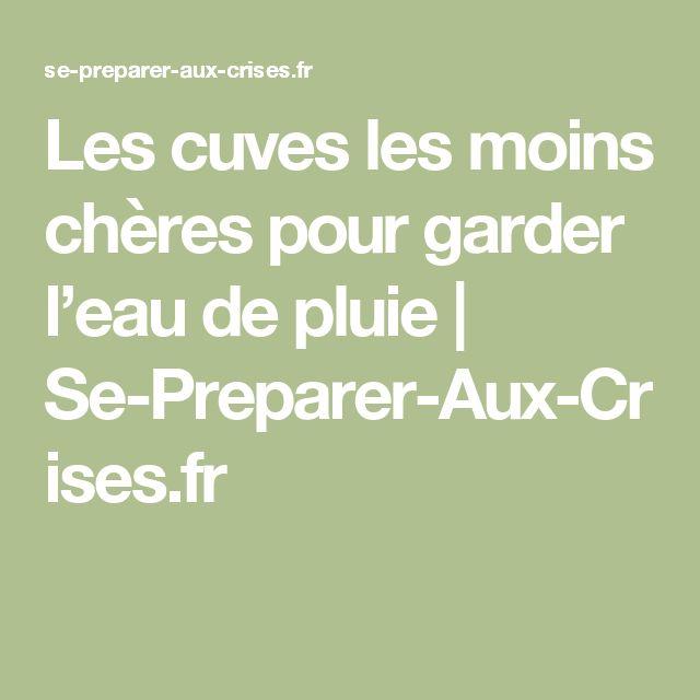 Les cuves les moins chères pour garder l'eau de pluie | Se-Preparer-Aux-Crises.fr