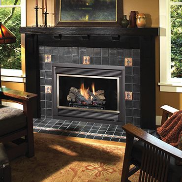 The seattletm ss space saver deluxe gas fireplace by for Fireplace inserts seattle