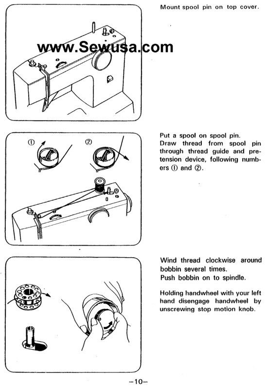 how to thread an white sewing machine