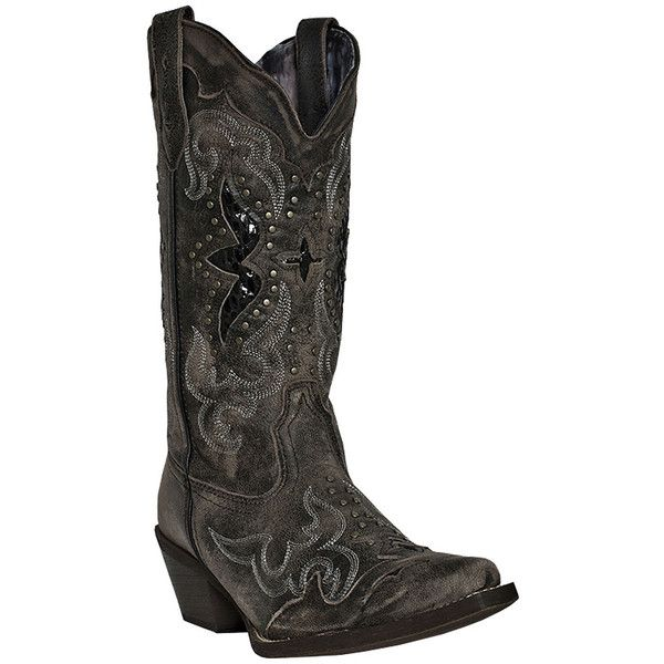 Laredo Lucretia Womens Western Cowboy Boots (£120) ❤ liked on Polyvore featuring shoes, boots, mid-calf boots, snakeskin boots, mid calf cowboy boots, snake skin cowboy boots, western style boots and snakeskin cowboy boots