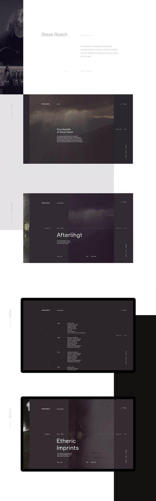 Steve-Roach1 #ui #ux#userexperience #website #webdesign #design