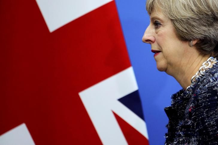 British Prime Minister Theresa May leaves following a news conference after the closing of G20 Summit in Hangzhou, Zhejiang Province, China, September 5, 2016. REUTERS/Damir Sagolj