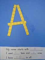Mrs. T's First Grade Class: Place Value My name starts with A. I used 2 tens and 6 ones. I have 26 in all.