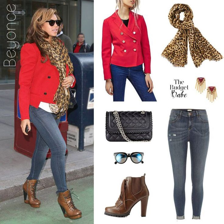 Throwback Thursday: Beyonce's Red Jacket and Leopard Scarf