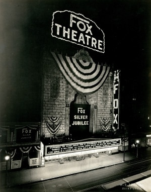 Fox Theater during the Fox Silver Jubilee, 527 - 529 North Grand Avenue. (1929)