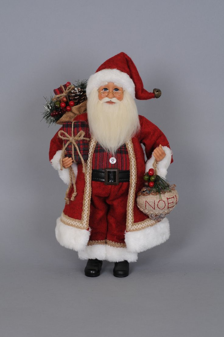 Features:  -Christmas collection.  -New for 2015.  -Rustic design makes this item great for cabins and get away homes.  -High quality item with hand painted face and hands and glass inset eyes, mohair