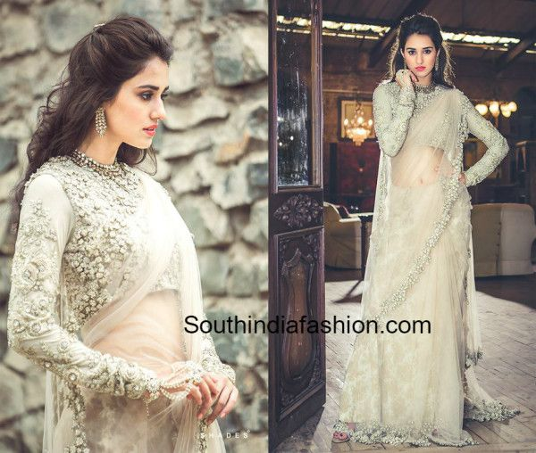 dishapatani_pastel_color_sabyasachi_saree