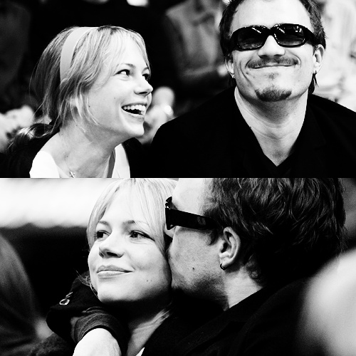 Always loved Heath Ledger   Michelle Williams together, they always looked so happy and in love...