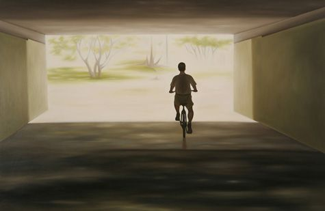 """Threshold  by Rich Lehl  Oil on panel, 30 1/2 x 44 3/8 x 1 1/2"""", 2007"""