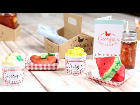 DOLL PICNIC PLAYSET DIY | How to make American Girl DOLL FOOD - YouTube