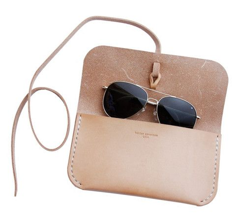 Natural Leather Sunglass Case
