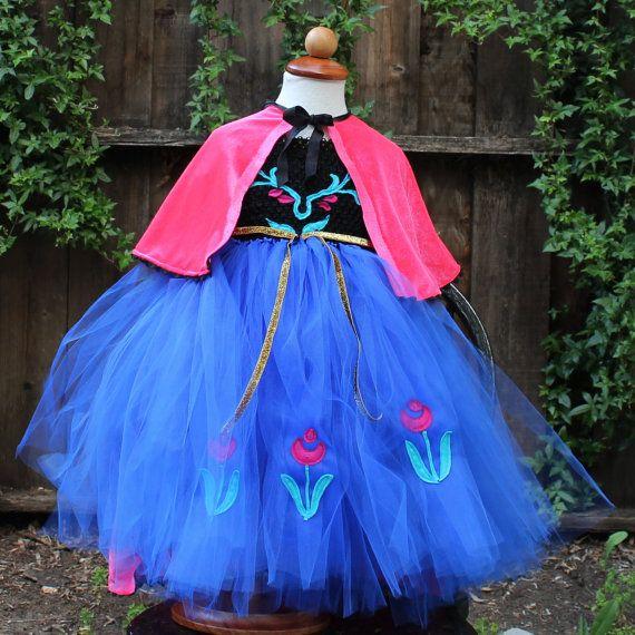 Frozen costumes - Princess Anna pink velvet cape