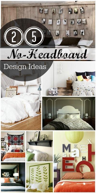 25 No-Headboard Design Ideas