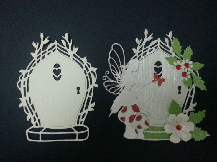 TONIC WHITE CARD FAIRY DOOR DIE CUTS CARDS SCRAPBOOK TOPPERS in Crafts, Cardmaking & Scrapbooking, Die-Cut Shapes & Punchies | eBay