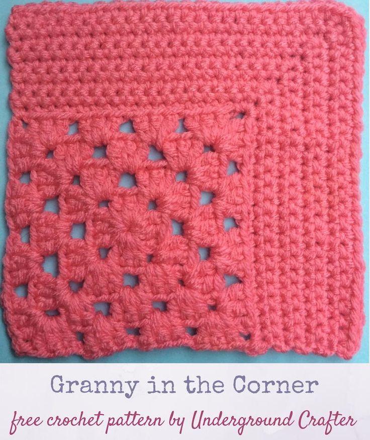 Granny in the Corner | AllFreeCrochetAfghanPatterns.com