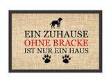 Fußmatten - Fußmatte EIN ZUHAUSE OHNE IRISCHER WOLFSHUND - ein Designerstück von Interluxe bei DaWanda
