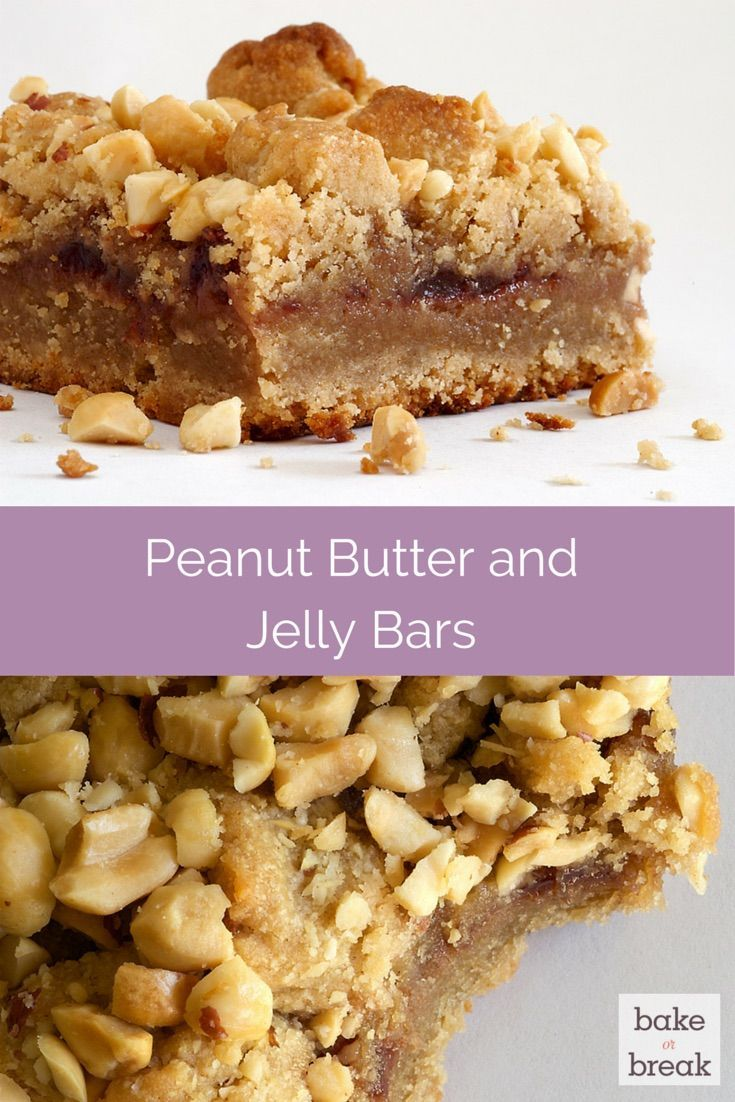 Peanut Butter and Jelly Bars are so sweet and nutty. A terrific crowd ...