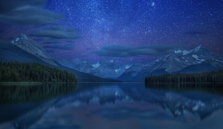 Night skies over Maligne Lake by Andrey Popov on 500px ...