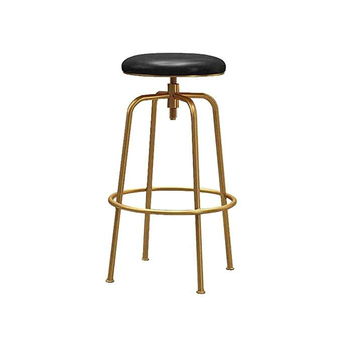 Bar Stools Swivel Faux Leather Kitchen Breakfast Counter Tall