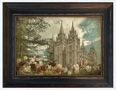 """Vintage SLC Temple with Tulips 17"""" x 20"""""""