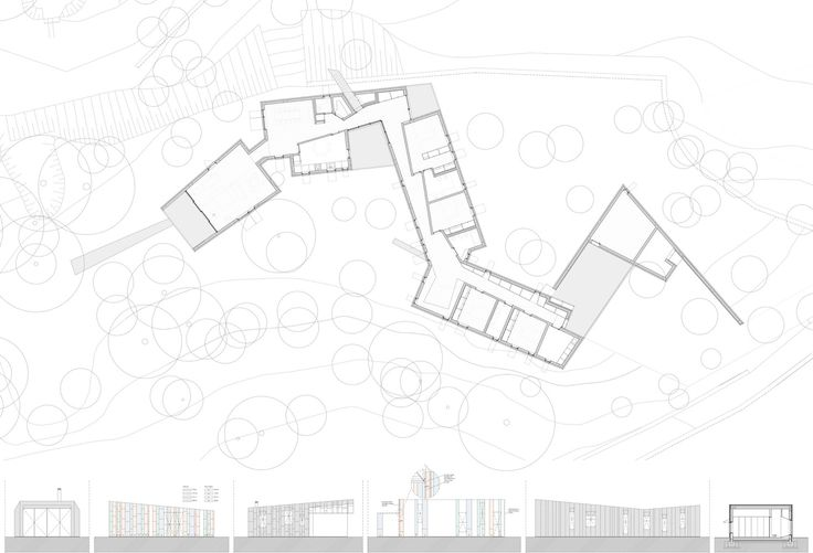 Lagartixa House,Floor Plan, Sections and Elevations