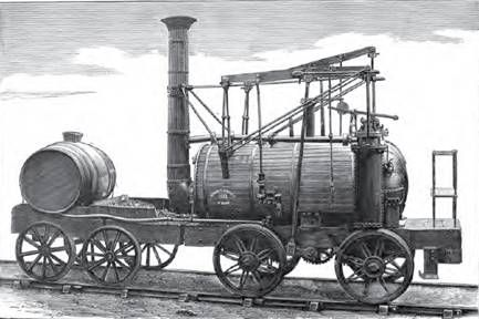 """The original """"Puffing Billy"""" engine was constructed at Wylam, by Wm. Hedley, Mechanical Engineer for Mr. Christopher Blackett, the proprietor of the Wylam Colliery near New Castle on Tyne and was set to work in 1813."""