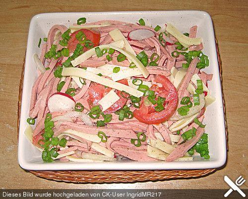 Wurstsalat auf bayrische Art, ein schmackhaftes Rezept aus der Kategorie Fleisch & Wurst. Bewertungen: 7. Durchschnitt: Ø 2,6.