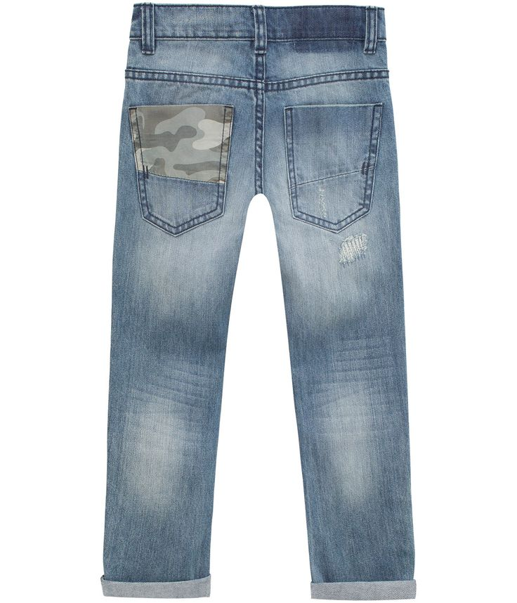 Jeans regular fit, Blå, Kids - KappAhl