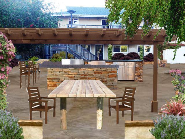 Wine Country Back Yard Entertainment Outdoor Kitchen Outdoor Dining