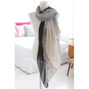 Graceful Mixed Pattern Multicolor Chiffon Scarf For Women (COLOR ASSORTED) in Scarves | DressLily.com