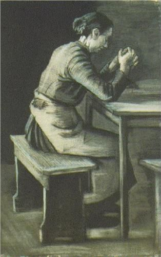 Woman Praying; Vincent van Gogh. I read his biography so I am more appreciative of his art and where he was in his career.