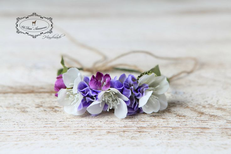 newborn flower crown, newborn headband, nature inspired, photo session, photo prop by OhDearAccessories on Etsy