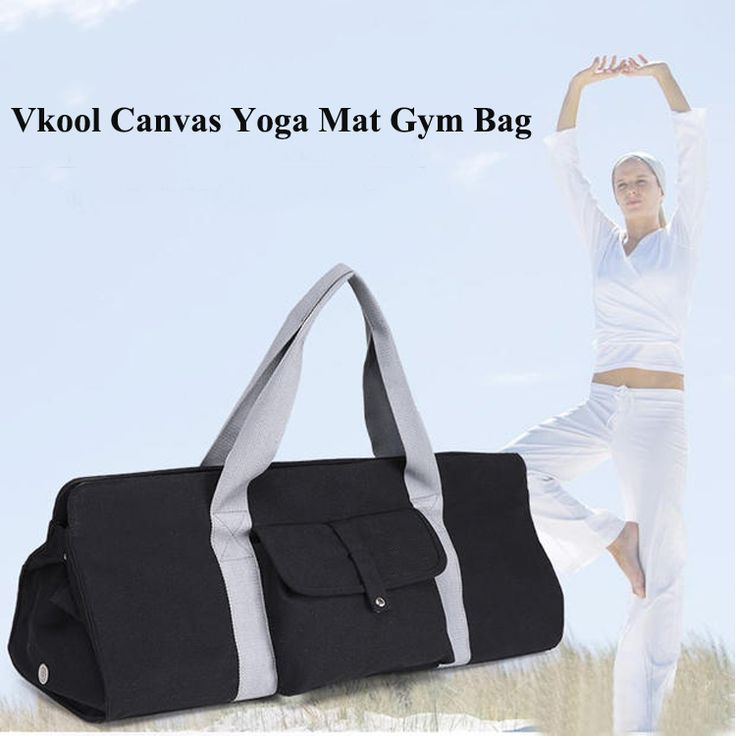 Vkool Factory Wholesale Air Hole Canvas Yoga Gym Bag Fitness Pilates Tote With Front