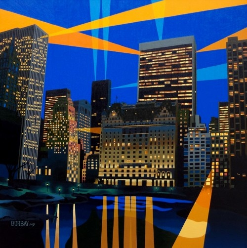 Central Park South Painting by Borbay