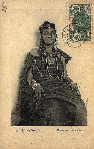 vintage postcard of an african woman by justagigolo, via Flickr