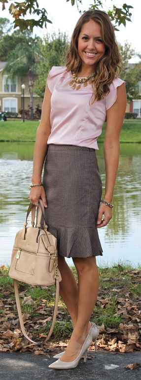 Trumpet skirts - fun alternative to the traditional pencil skirt. | Office Style tweed?