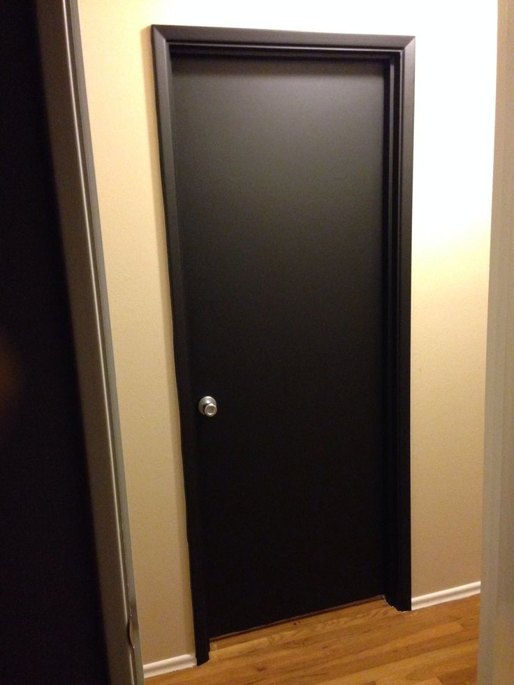Charming Satin Black Vinyl Door Wrap At Www.rmwraps.com