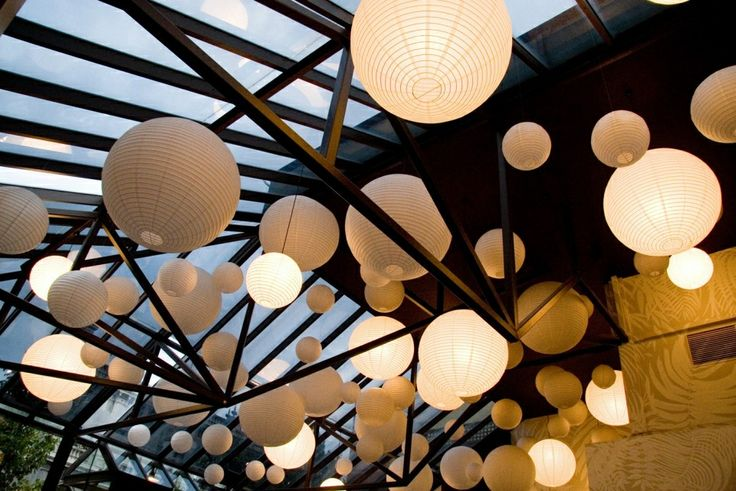 Can't beat the magic of the sun setting and our Chinese lanterns illuminating.  We just love our ceiling!!