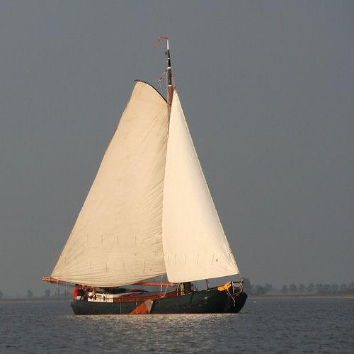 Ship sailing in Friesland