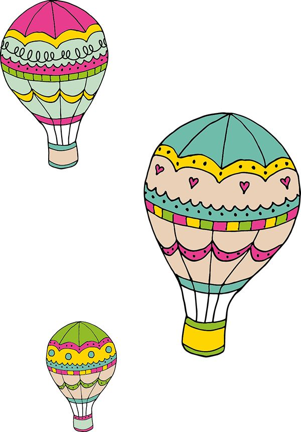 hot air balloon printable wall art