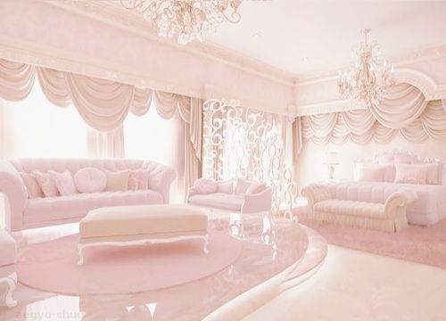 pastel pink room...Instead of a coffin...just put me in a glass casket and sit me in this room forever. It's perfect. <3