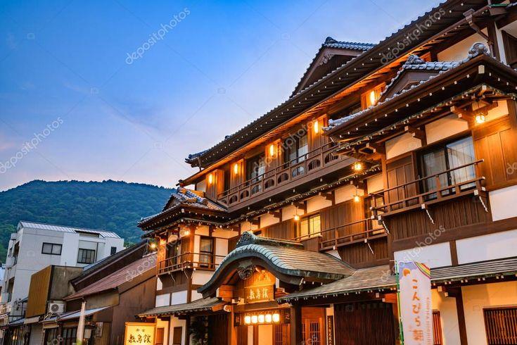 Luxurious onsen hotel spring resort, Japan – Stock…