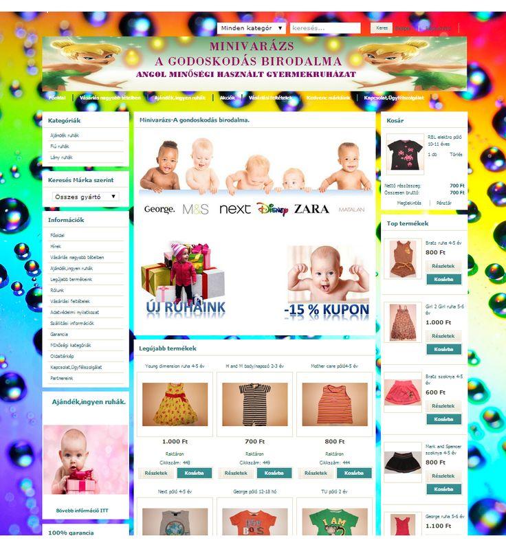 http://www.minivarazs.hu/  Angol minőségi használt gyermekruha.
