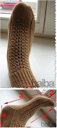 Носки на двух спицах,три способа. ÕPETUS: http://www.liveinternet.ru/users/4107042/post301053658/