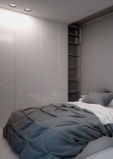 Bedroom design in Katowice, POLAND - archi group. Sypialnia w mieszkaniu w Katowicach.