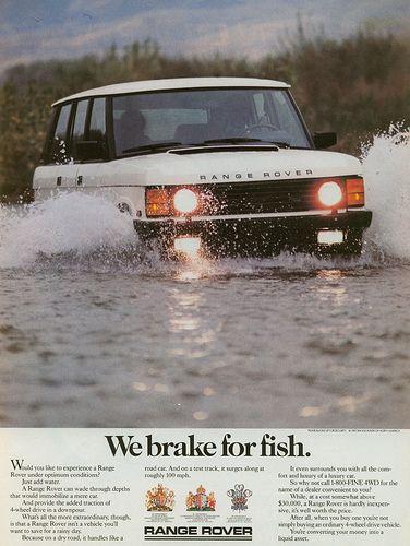 1 April : We brake for Fish.