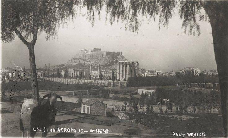 Αθήνα, άποψη της Ακρόπολης, 1920-1928, συλλογή Jordi Gibert Gibert,
